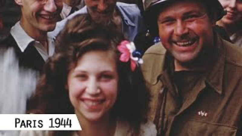 Paris Liberation in August 1944 in color and HD