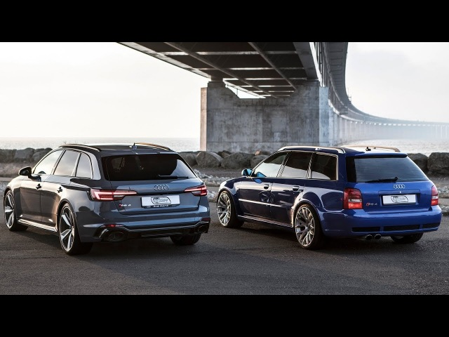 GENERATIONS CLASH The 2018 AUDI RS4 vs it's Godfather AUDI RS4 B5