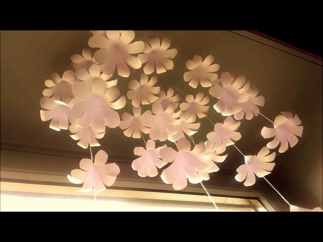 DIY Simple Home Decor - Hanging Flowers 1- Handmade Decoration