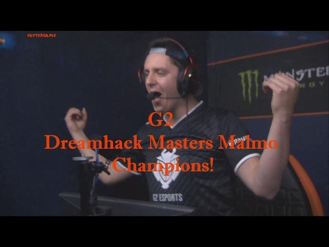 G2 champions! 🏆 Dreamhack Masters Malmo 2017 @ Winning moment 2:0 vs North wins Grand Final