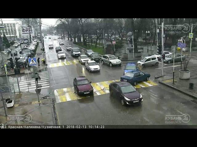 ДТП на ул. Красная и ул. Кузнечная 13.02.2018