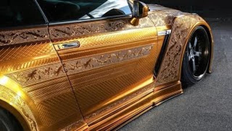 ШОК!! В Дубае показали золотой Nissan GT-R за миллион долларов