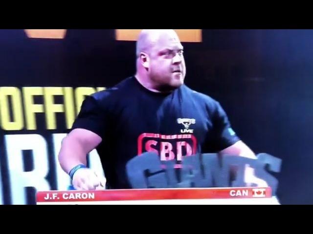 Жан Франсуа Карон - тяга 400 кг на 5 раз