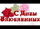 С Днем всех влюбленных. Красивое поздравление с Днём Св Валентина. День Святого Валентина