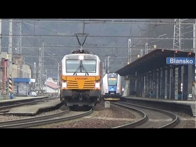 Vlaky Blansko 6.1.2018