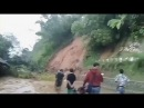 Landslides in indonesia flood in brazil fish out in the river
