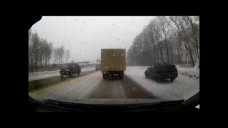 Большая пробка на дороге Тула - Новомосковск из-за ДТП