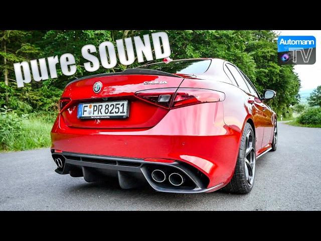 Alfa Giulia Quadrifoglio (510hp) - pure SOUND (60FPS)