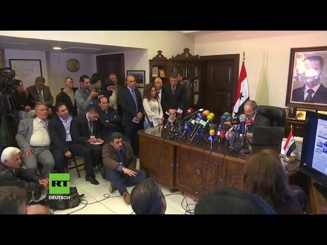 Syrien: Toxische Substanzen in zurückeroberten Gebieten gefunden