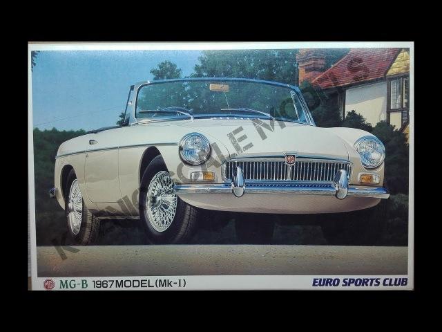 MG-B 1967 Model (Mk-1) Euro Sports Club Aoshima 1/24