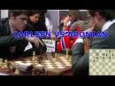 EXCITING QUEEN VS DOUBLE ROOK ENDGAME Magnus Carlsen Vs Levon Aronian Botvinnik Chess 2011