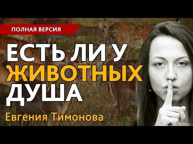 Евгения Тимонова: Есть ли у животных душа?. Полная версия