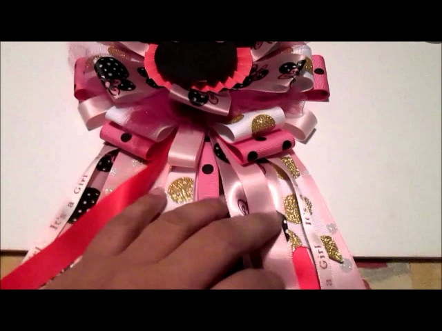 Minnie Mouse Banner for Baby Shower and Mother To Be Corsage projects