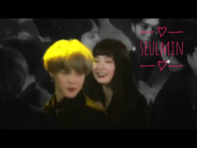 BTS (방탄소년단) Jimin RED VELVET (레드벨벳) Seulgi bowing each other @Seoul Music Awards 2018(SEULMIN)