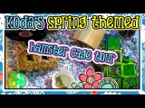 Koda's Spring Themed Hamster Bin Cage Tour! (March 2015)