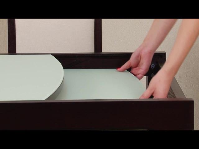 Обеденный раздвижной стол со стеклом «Танго Т1» · coub, коуб
