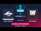 Secret vs Infamous, ESL One Katowice [Mila, Mortalles]