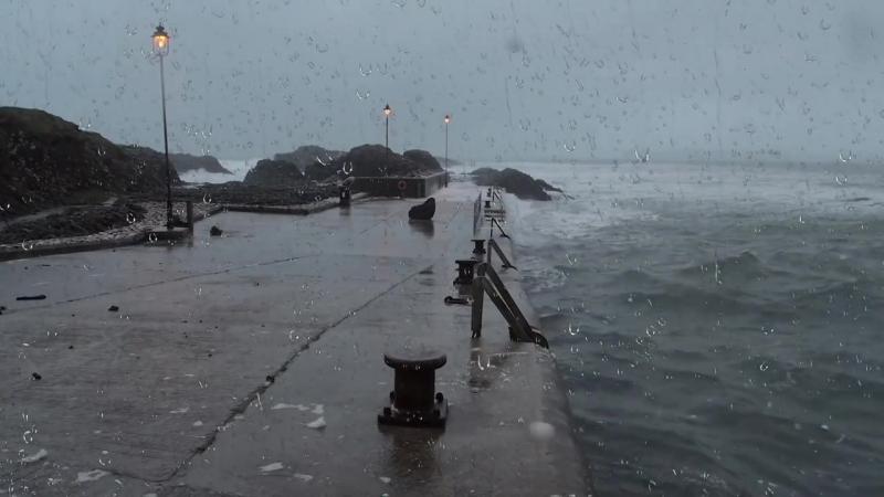 Звуки морской бури для сна или учебы _ Гром, Волны, Ревущий ветер и дождь (1)
