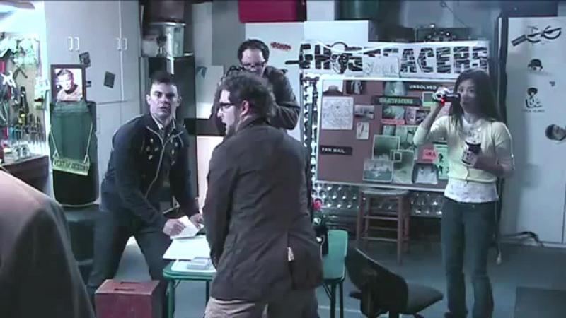 The Ghostfacers meet Castiel / Духоловы встречают Кастиэля / Встреча Кастиэля и Укротителей духов [Kravec]