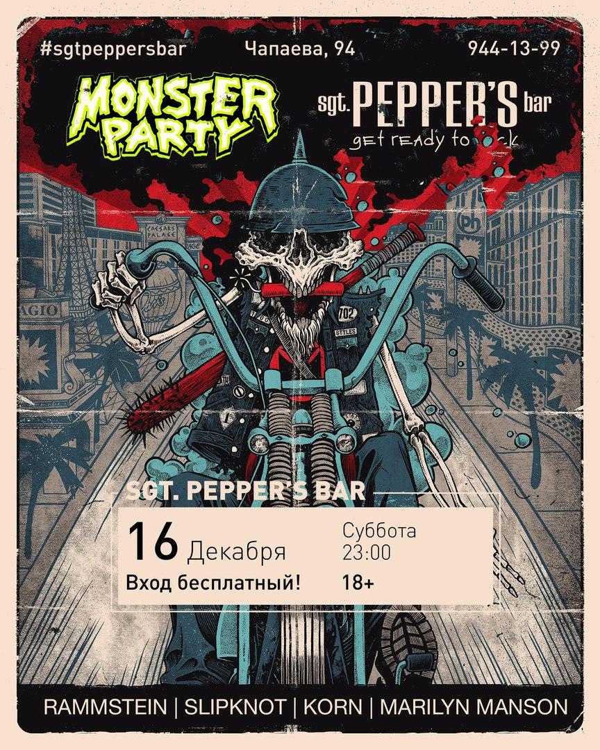 Афиша Краснодар MONSTER PARTY Sgt.Pepper's Bar / 16.12