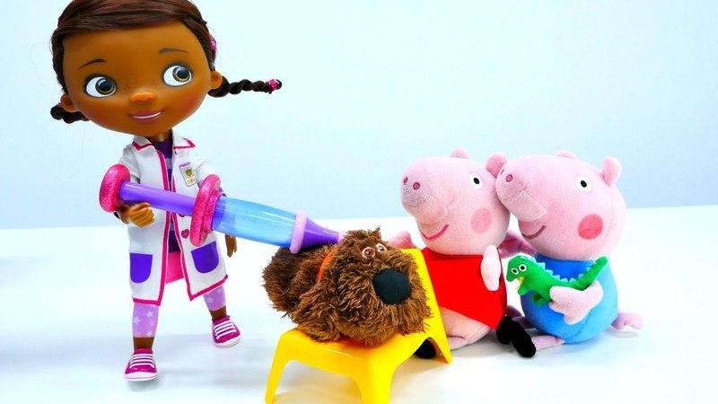 Peppa Pig va a Doctora Juguetes. Vídeo para bebés.