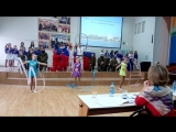 Фрагмент показательного выступления группы рукопашного боя в сводном номере на Фестивале Юных талантов