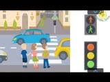 Светофор и правила дорожного движения для детей. Дорожные знаки. Развивающий мул