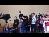 Встреча Олимпийской команды Беларуси в Минске (Дарья Домрачева, Ирина Кривко, Динара Алимбекова, Надежда Скардино)