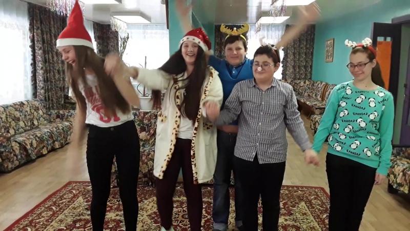 Поклон тинсов после рождественского спектакля