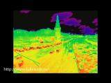 Это видео обошлось нам в 4000$. Московский Кремль. Тепловизионная съёмка зимней Москвы. [Смотреть со звуком]