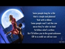 Michelle Williams - Tightrope LYRICS (from The Greatest Showman)