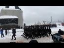 Парад к 100 летию РККА в Североморске 24 февраля 2018 год. часть 1