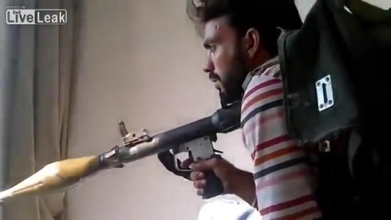 Выстрел ваххабита из РПГ 7