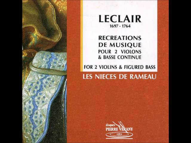 Leclair - Récréations pour 2 violons Basse Continue