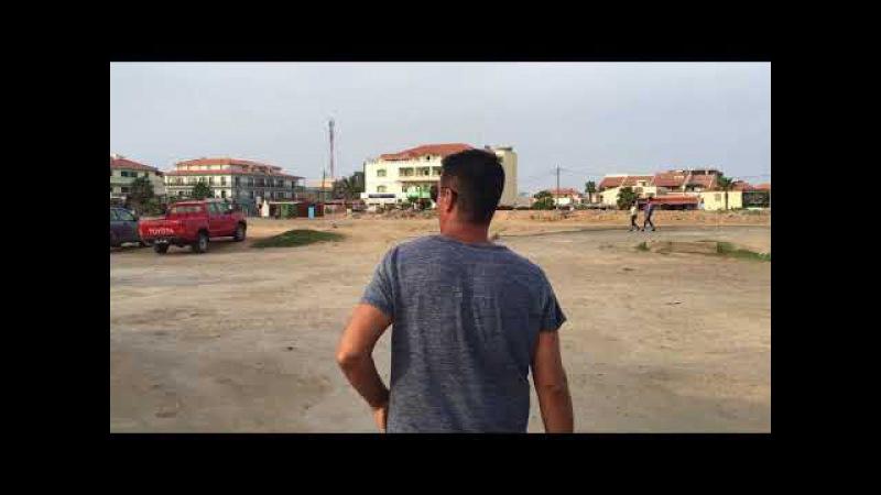 The beach road at Santa Maria island Sal Cape Verde