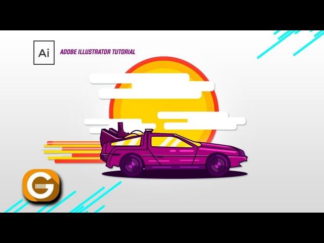 Illustrator Tutorial | Ilustración Back to the Future | Paso a Paso SOLO MOUSE