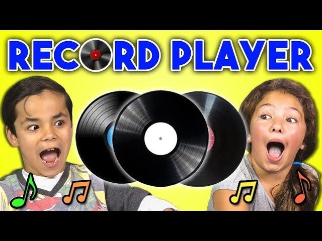 KIDS REACT TO RECORD PLAYERSVINYL