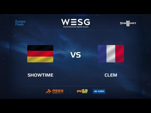 ShoWTimE vs Clem, WESG 2017 SC2 European Qualifier Finals