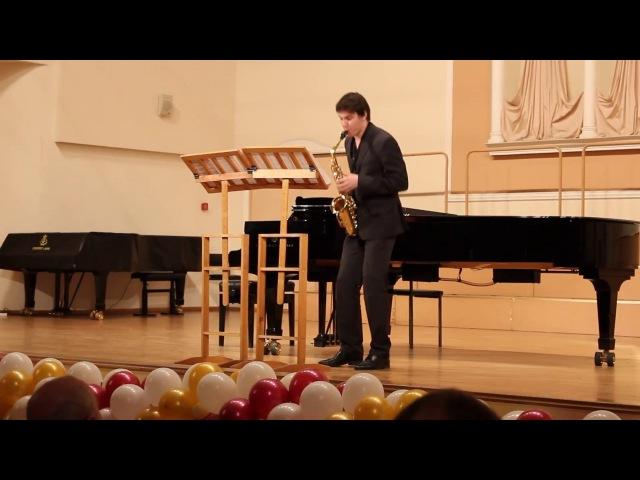 А Пикунов. Три этюда-каприса для саксофона. Исп. автор