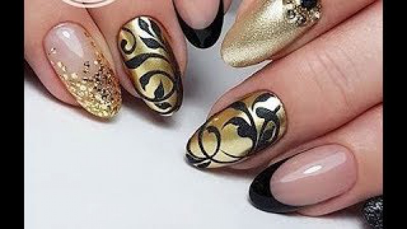 Ideas for Elegant Manicure in Gold✔NEW NAIL ART COMPILATION