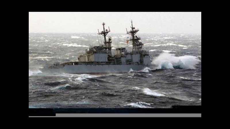 NAVY SHIP IN HEAVY WEATHER BEST VIDEO