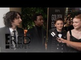 Stranger Things Cast Excited for 2018 Golden Globe Awards | E! Live from the Red Carpet