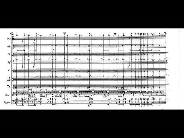 Iannis Xenakis Thallein w score for chamber orchestra 1984