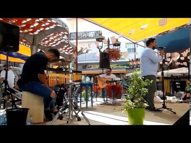 Feria ALHAURIN de la TORRE 2017, cante y baile en la plaza, canciones espanolas flamencas, 24/06