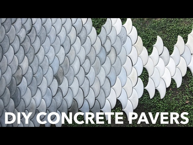 DIY Concrete Patio Pavers