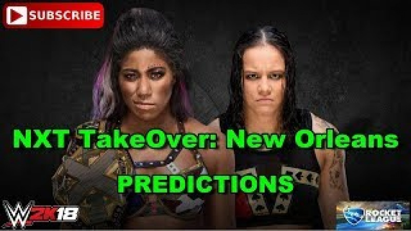 NXT TakeOver: New Orleans NXT Women's Championship Ember Moon vs Shayna Baszler Predictions WWE 2K18