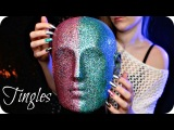ASMR Tapping &amp Scratching Binaural Head Mic (NO TALKING) Strong Textured Sounds for Sleep &amp Tingles
