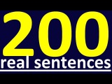 200 REAL ENGLISH SENTENCES FOR ENGLISH CONVERSATION. HOW TO LEARN ENGLISH SPEAKING EASILY