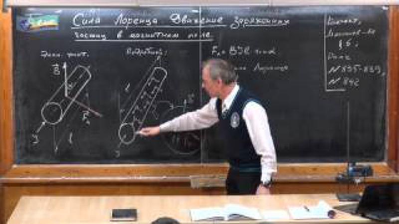 Урок 276. Сила Лоренца. Движение заряженных частиц в магнитном поле » Freewka.com - Смотреть онлайн в хорощем качестве