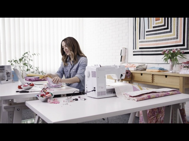 Suzy Williams, Quilt-Designerin aka «Suzy Quilts», talks about the new BERNINA 570 QE